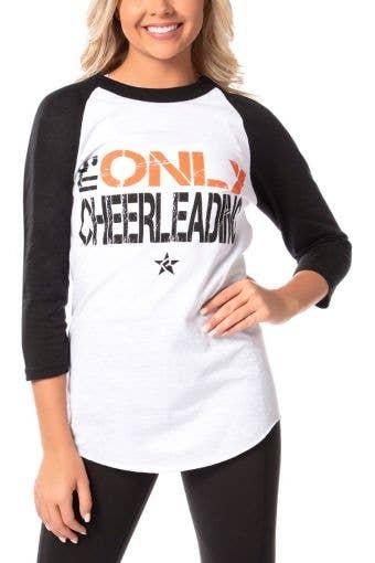 I'm Only Cheerleading Baseball Tee