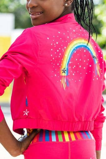 Torrent Bomber Jacket in Pink