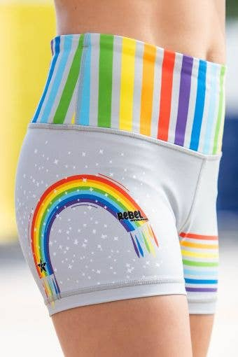 Legendary Compression Short in Grey Rainbow