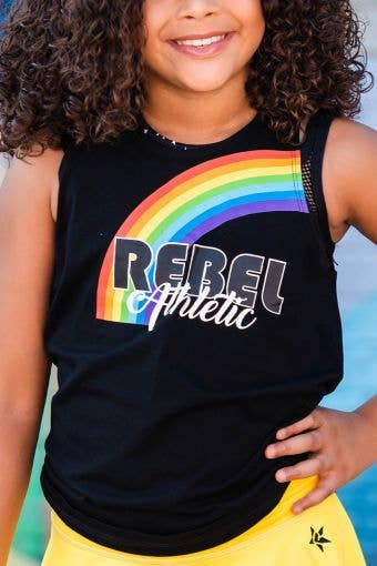 Twist and Tie Tank in Rainbow