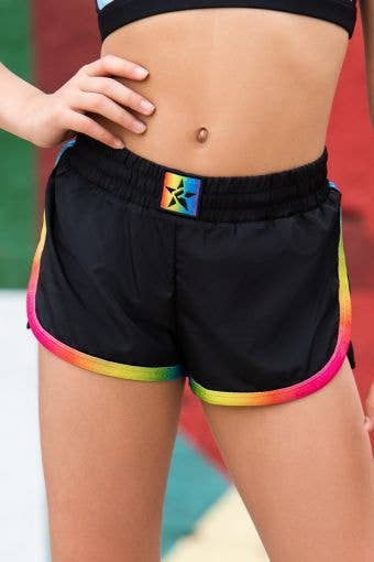 Sport Short in Black Rainbow