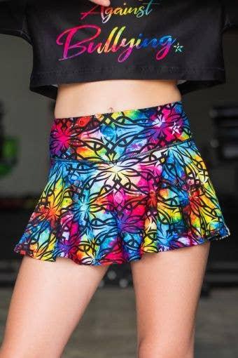 Legendary Flouncy Skirt in Rainbow Allure - Girls