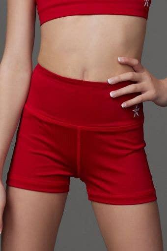 Legendary Compression Short in Red - Girls