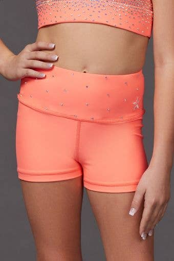 Legendary Compression Short in Coral Crystal