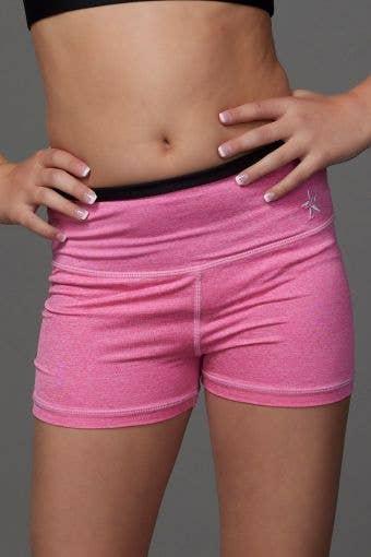 Legendary Compression Shorts in Pink HeatherFlex - Girls