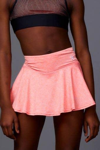 Legendary Flouncy Skirt in Coral HeatherFlex - Girls