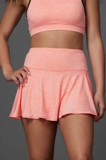 Legendary Flouncy Skirt in Coral HeatherFlex