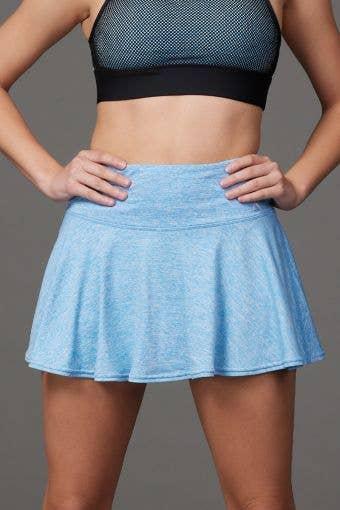 Legendary Flouncy Skirt in Blue HeatherFlex