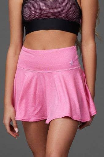 Legendary Flouncy Skirt in Pink HeatherFlex