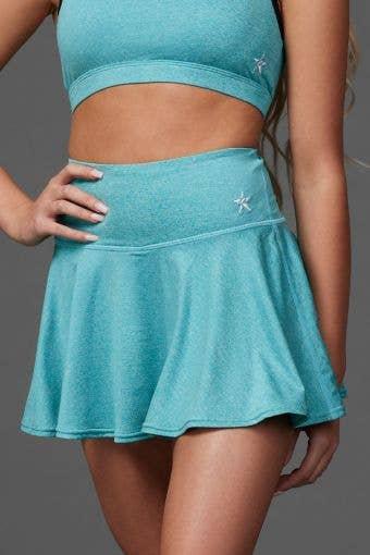 Legendary Flouncy Skirt in Teal HeatherFlex