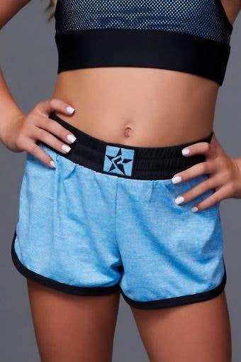 Sport Short in Blue HeatherFlex - Girls