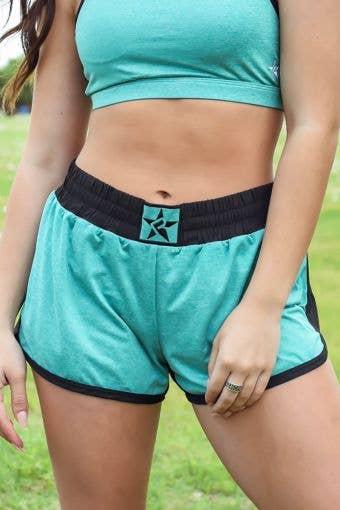 Sport Short in Teal HeatherFlex