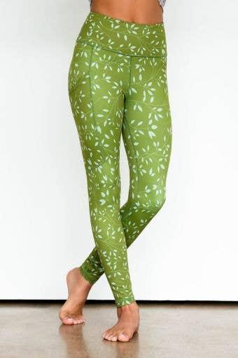 Legendary Legging in Kelp Green Floral - Girls