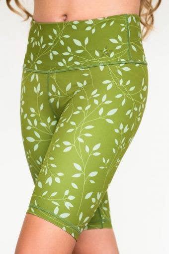 Legendary Bike Short Kelp Green Floral - Girls