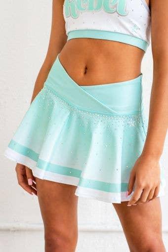 LuxWaist Flouncy Skirt in Sea Foam