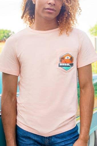 Unisex Tee in Pastel Peach Sunshine