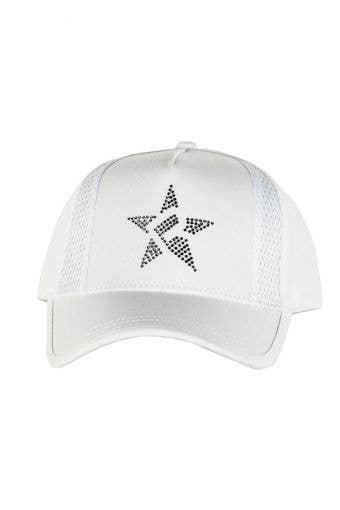 Rebel Mark Crystal Hat in White