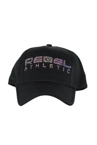 Rebel Athletic Crystal Hat in Black