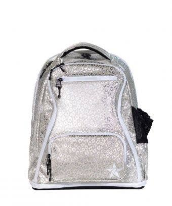 Silver Leopard Rebel Baby Dream Bag with White Zipper
