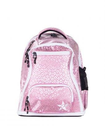 Pink Leopard Rebel Baby Dream Bag with White Zipper