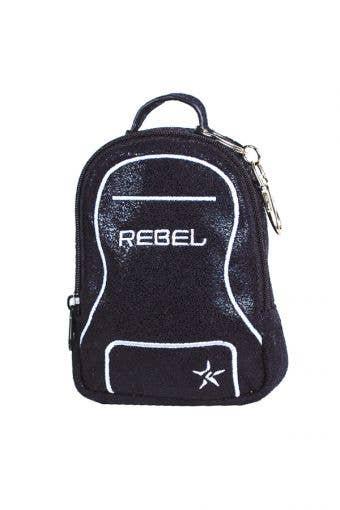 black coin purse called Black Faux Suede Mini Dream Bag Coin Purse by Rebel Athletic
