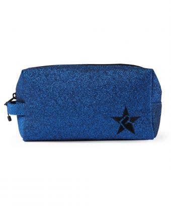 blue and black makeup bag called Royal Blue Makeup Bag with Black Zipper by Rebel Athletic
