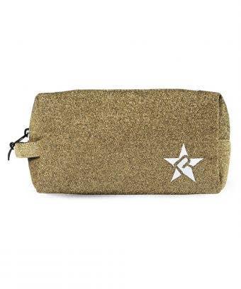 sunrise makeup cases - gold glitter makeup bag