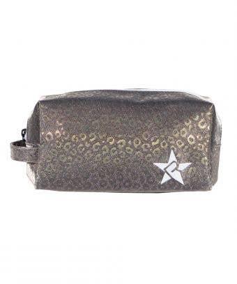 Gunmetal Leopard Rebel Makeup Bag