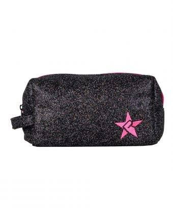 black and pink makeup bag