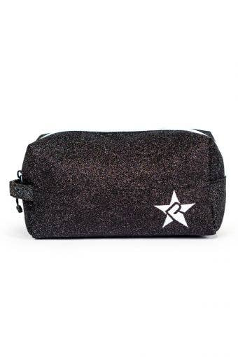 black and white makeup bag, called Imagine Makeup Bag with White Zipper by Rebel Athletic