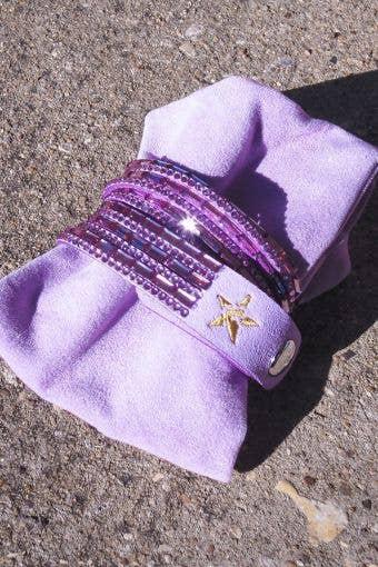 Rebel Crystal Bracelet in Lavender - FINAL SALE