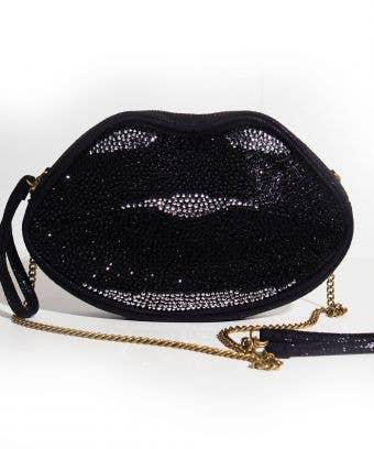 black crystal crossbody bag