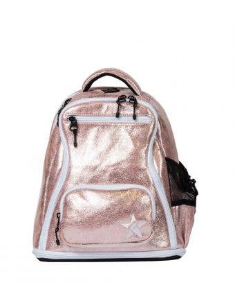 pink suede mini backpack