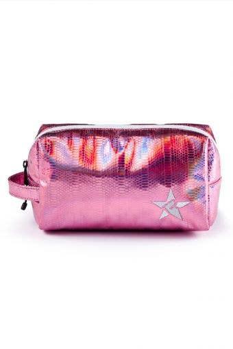 pink makeup bag called Pink Dragon Makeup Bag by Rebel Athletic