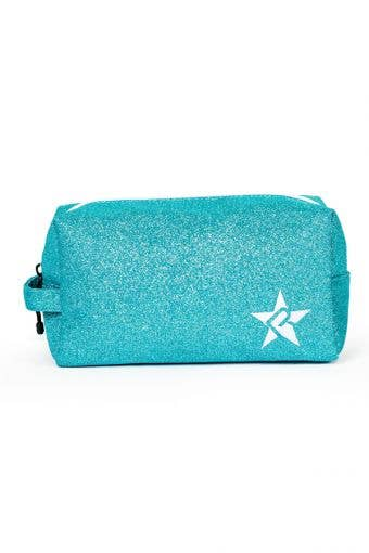 teal makeup bag - Pixie Dust Makeup Bag with White Zipper  by Rebel Athletic