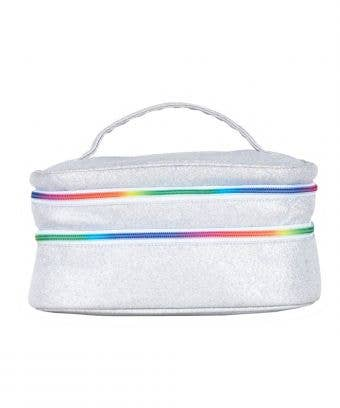 makeup travel case - GLAM & GO TRAVEL CASE IN OPALESCENT WITH RAINBOW ZIPPER