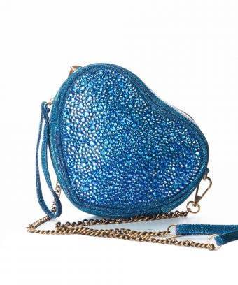 blue heart crossbody bag