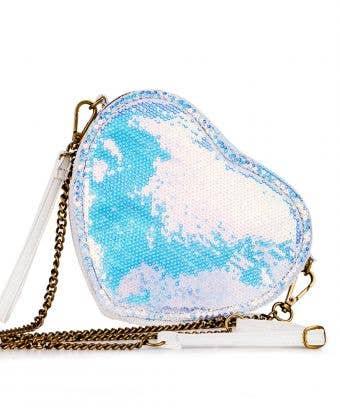 Rebel Heart Holosequin Crossbody - Gorgeous Hologram Crossbody Bag
