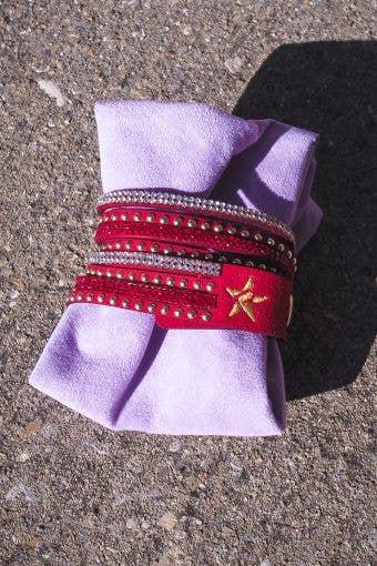 Rebel Bracelet in Red - FINAL SALE