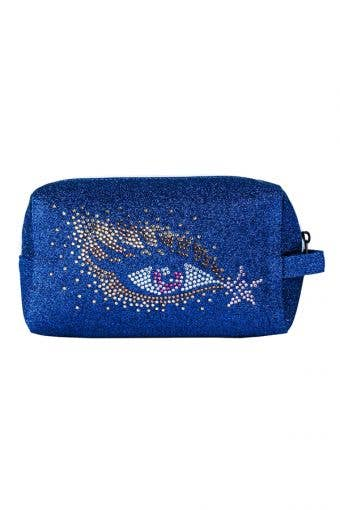 golden eye shadow makeup bag called Gold Eye Shadow Makeup Bag by Rebel Athletic