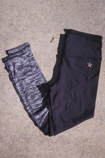 """""""Sock It to Me"""" Legging in Black and Gray - FINAL SALE"""
