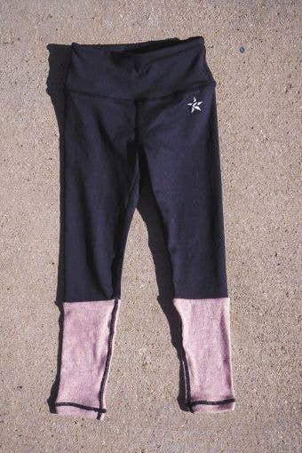 Legging in Black and Blush - FINAL SALE