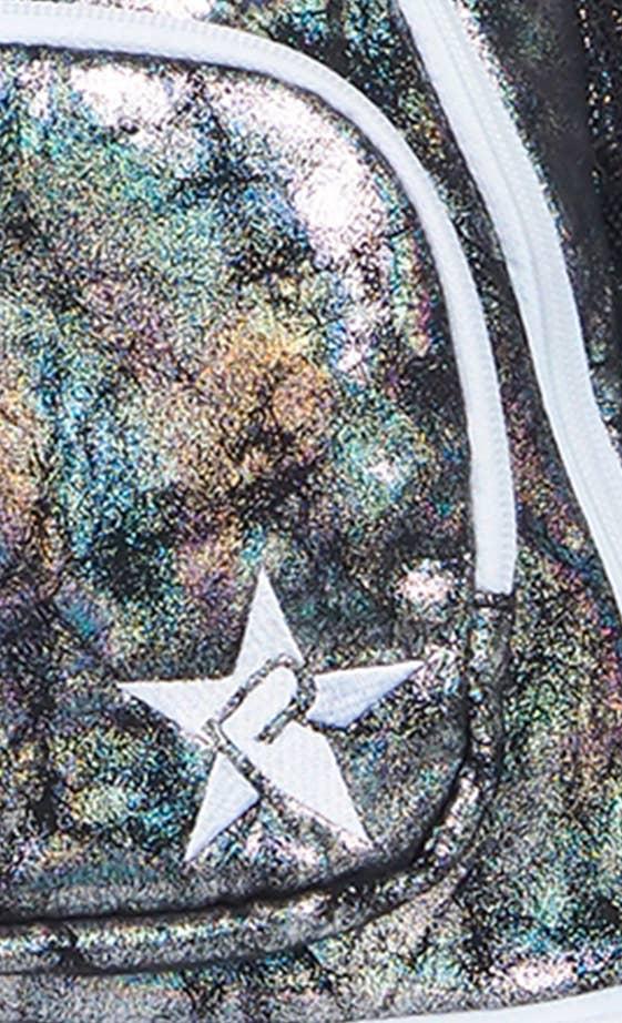 galaxy school bag fabric details
