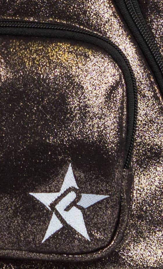 bronze backpack fabric details