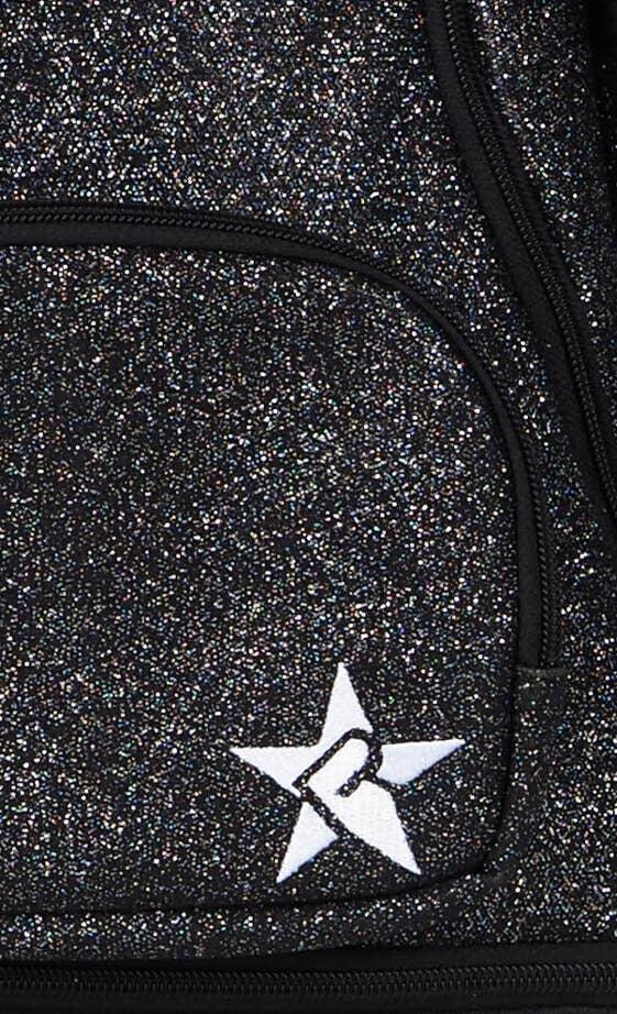 black blue sports bag fabric details