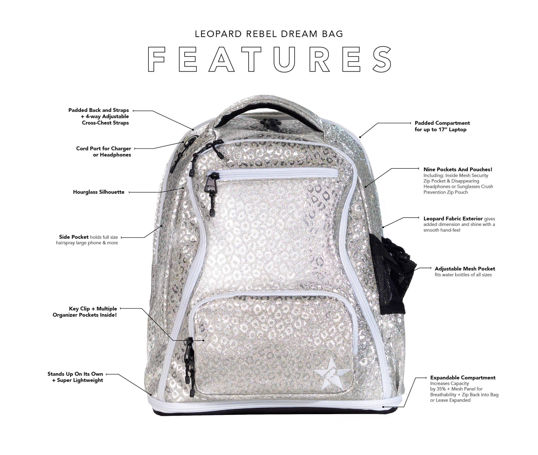 gunmetal cheer bag key features