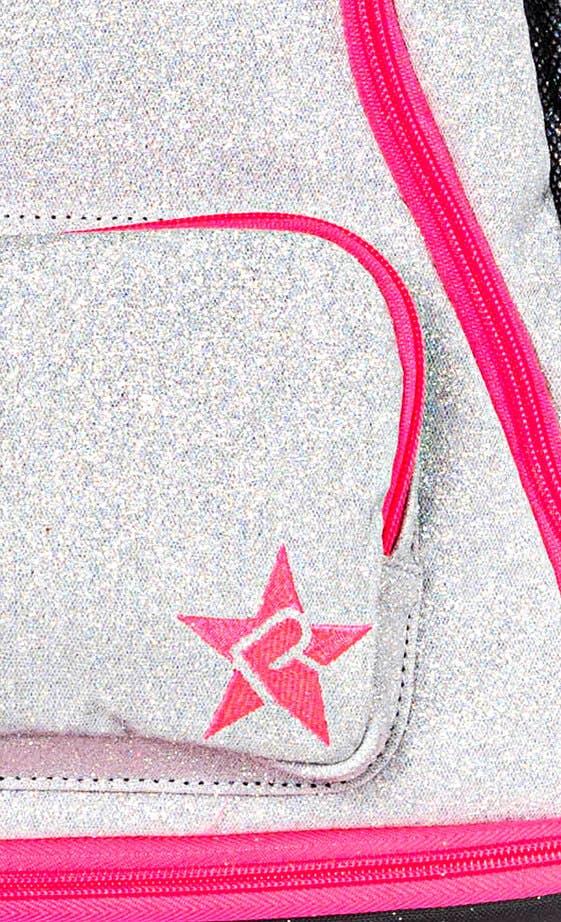 opalescent rebel dream bag pink zipper fabric details