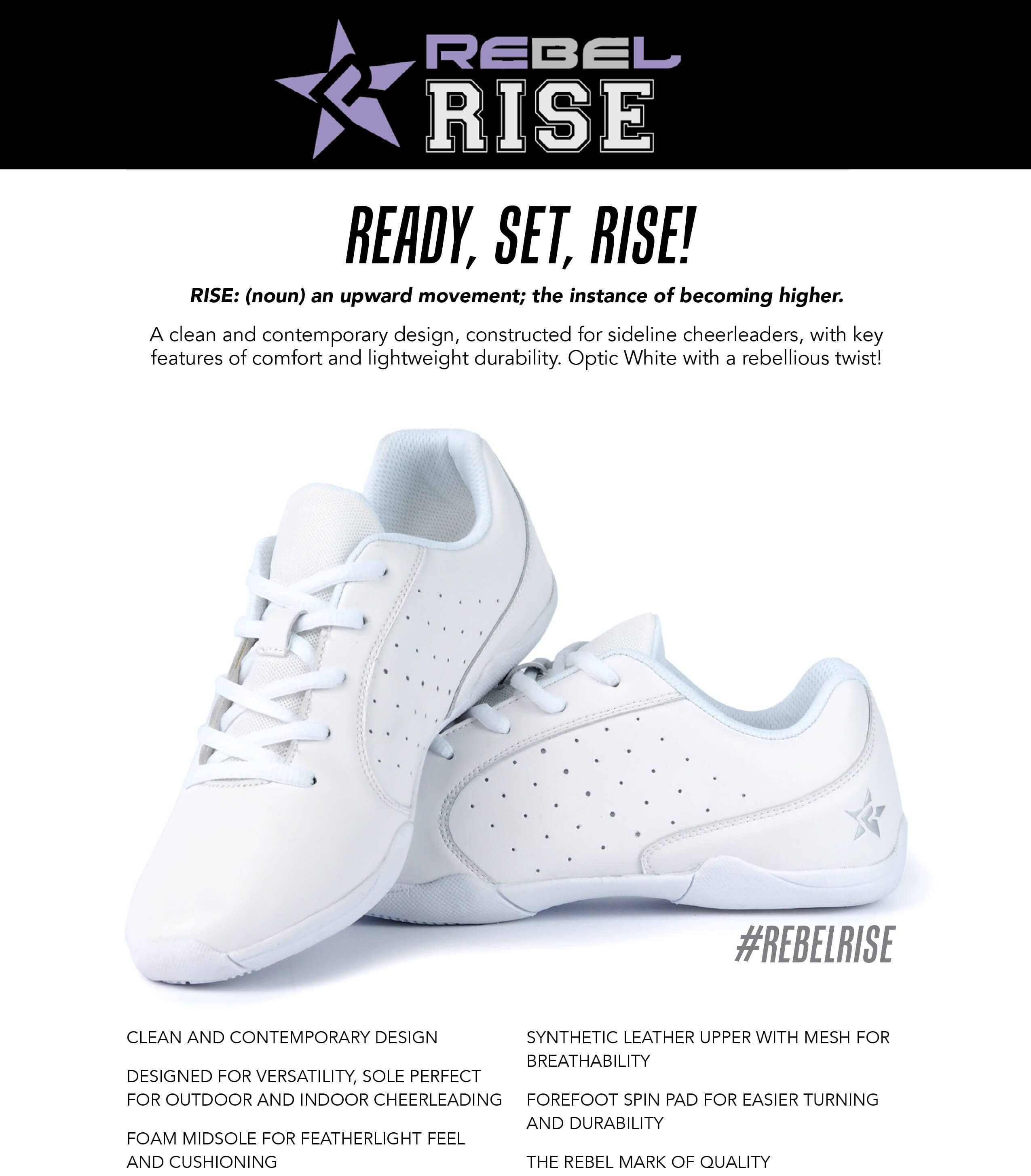 Rebel Rise cheer shoes