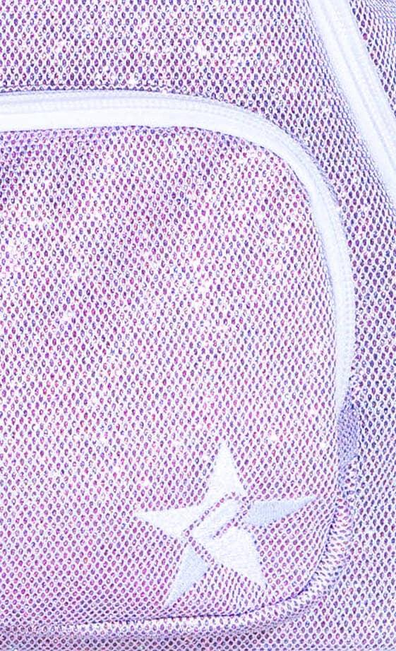 magenta cheer bag fabric close-up