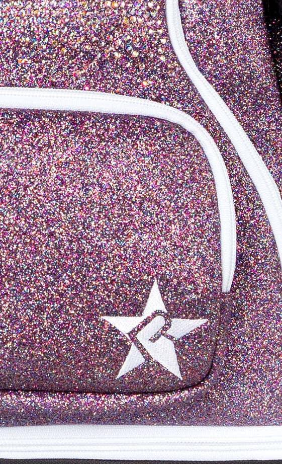 unicorn mini backpack fabric details